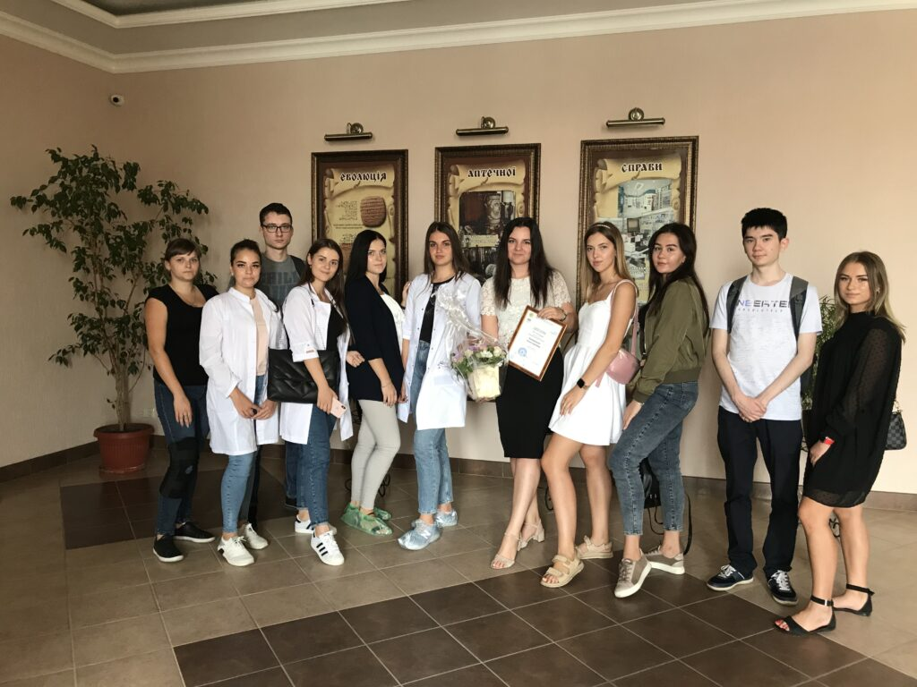 """On September 4, 2020, the curator of Assoc. Konovalenko IS with the diploma """"The best teacher of NUPh"""""""