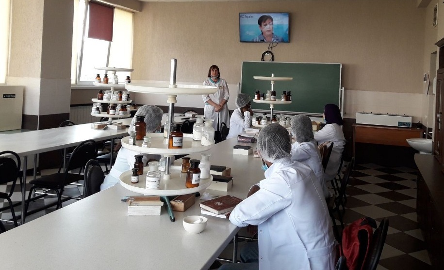 September 16, 2020 Assoc. Bogutskaya E.E. congratulated the students of the group Fm18 (5.0d) and-12 on the Day of the Pharmaceutical Worker